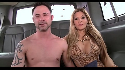Raunchy penis riding with two lusty gay hunks at the car park