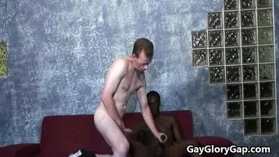 Black masseur makes straight guy cum 18