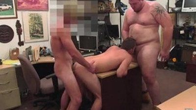 Gay pawn photos Guy finishes up with anal invasion sex threesome