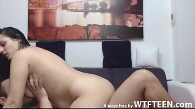 Massive Blowjob And Hot Fucking With Brunette Babe free by