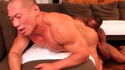 Ebony amateur rimming asian gay dude