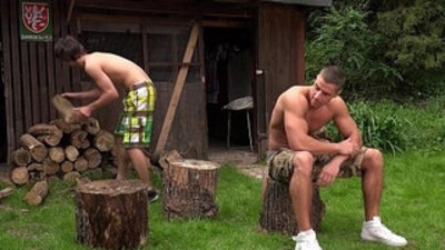 Outdoor fuck Arny and Paul