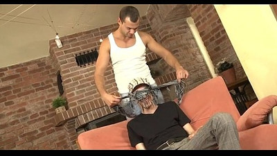 Homosexual guy gives lusty anal lickings