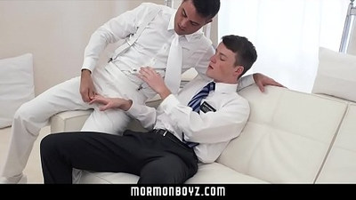 MormonBoyz Ginger bottom passionately fucked raw by older priest