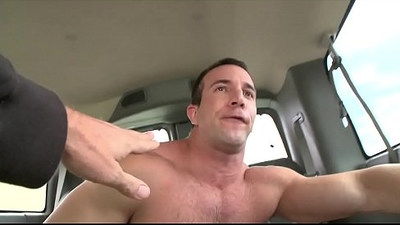BAIT BUS Muscle Hunk Gets His Dick Sucked By A Gay And He Is NOT Pleased