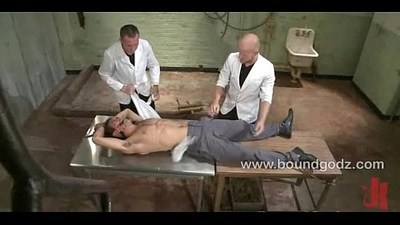 Cumming while fucked and tied
