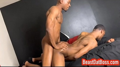 BeastDatBoss Fucks ArmaniFlexxx DoggyStyle and Creampies His Sloppy Hole