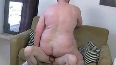 Fat mature slut gets his ass fucked