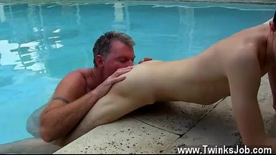 Hairy gay underwear outdoor sexy Brett Anderson is one lucky daddy