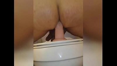 Fucking ass riding big king cock dildo