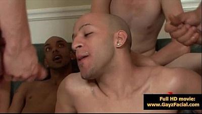 Bukkake Gay Boys Nasty bareback facial cumshot parties