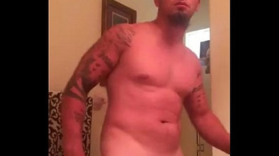 Hunk shows cock on cam...See
