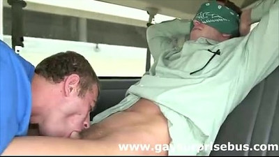 Girl tricks straight dude into public gay blowjob