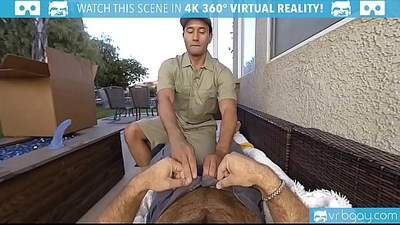 Gay VR PORN Ourdoor ass fuck with a hot stud Gabriel