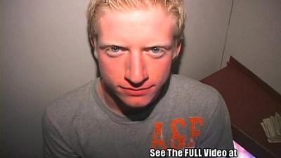 Aaron Blonde BoyToy Blows Gloryhole Strangers